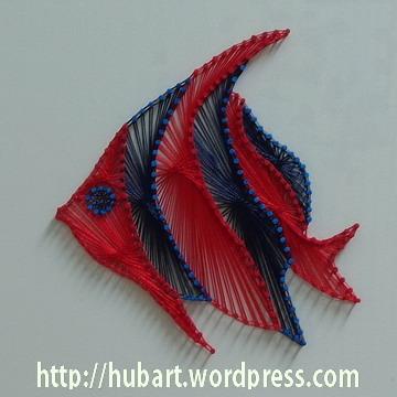 String art bannerfish for Fish string art