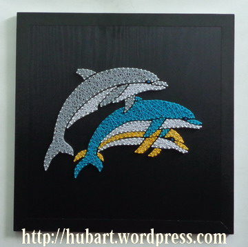 string art dolphins